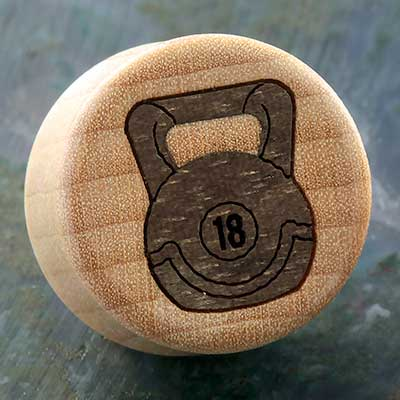 Curly Maple Wood Kettlebell Plugs