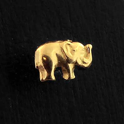 Gold Elephant Threaded End