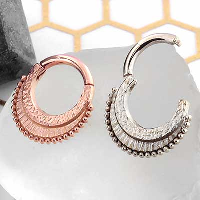 Gold War Horse Septum Clicker Ring