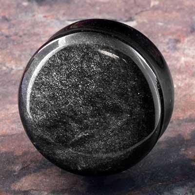 Silver Obsidian Plugs
