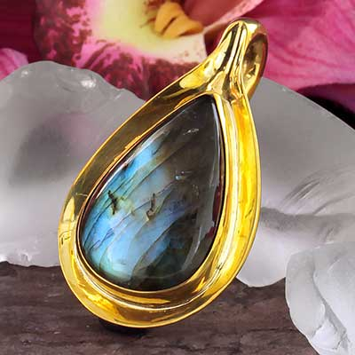 Aura Weights with Labradorite