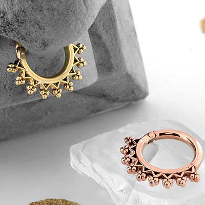 Monarch Septum Clicker Ring