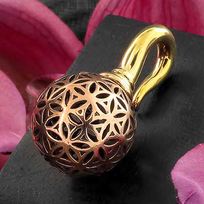 Brass and Copper Seed of Life Weights