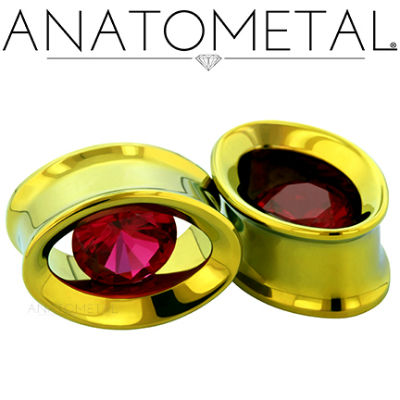 PRE-ORDER Titanium Single Stone Ellipse Eyelet