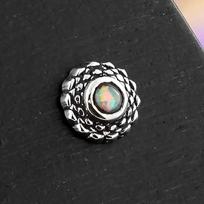 Silver Weave Threadless End