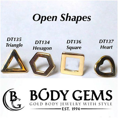 PRE-ORDER 14K Open Shaped Ends