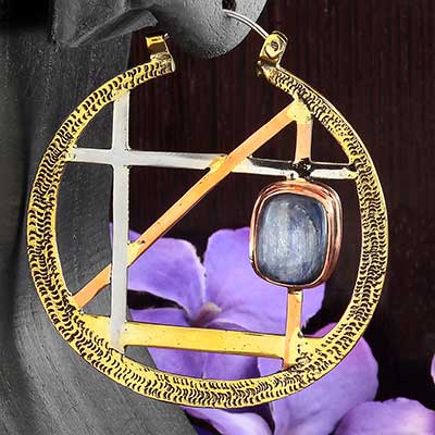 Alchemy Hoop Design with Kyanite