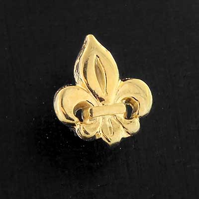 Gold Fleur De Lis Threaded End