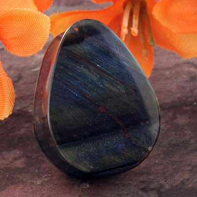 Blue Tiger Eye Teardrop Plugs