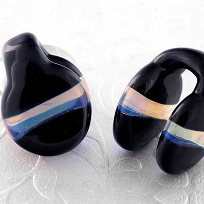 Glass Opalite Stripe Coin Weights