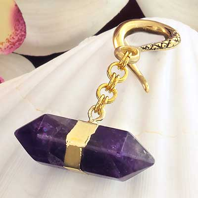 Brass with Amethyst Crystal Weights