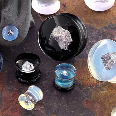 Glass Meteorite Plugs