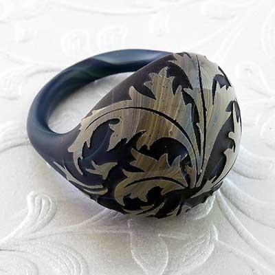 Pyrex Glass Torian Ring