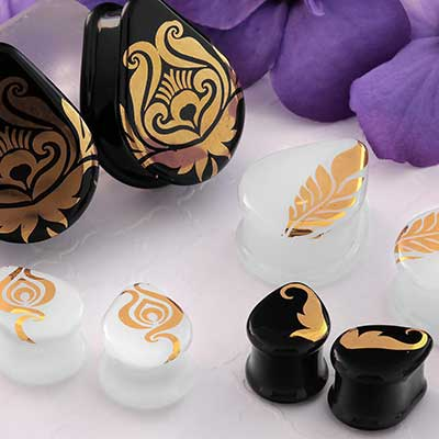 Flora and Fauna Teardrop Plugs