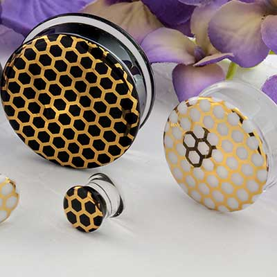 Pyrex Glass Honeycomb Plugs
