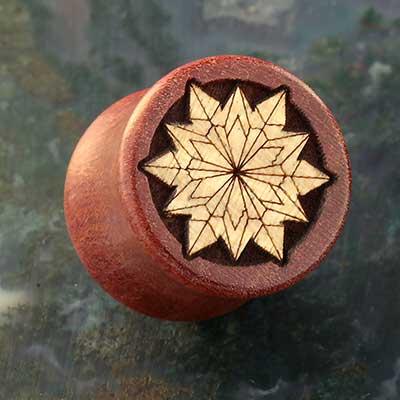 Swiss Pear Origami Snowflake Plugs