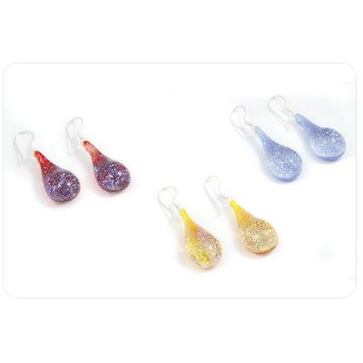 PRE-ORDER Glass Special Dichroic Teardrop Earrings