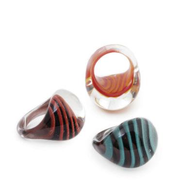 PRE-ORDER Tiger Stripe Glass Ring