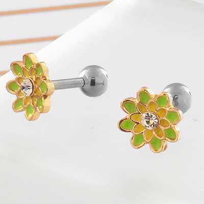 Green Spring Flower Barbell