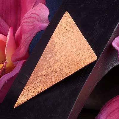 Brass and Copper Textured Triangle Weights