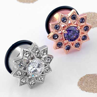 Single Flare Starflower Plugs
