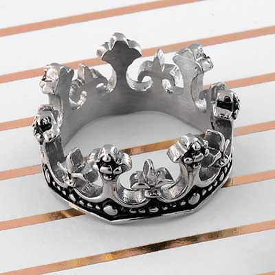 King Crown Band Ring