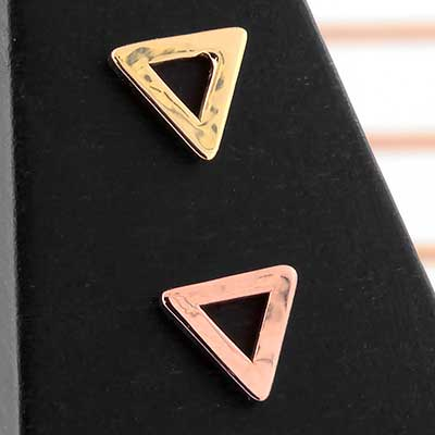 14k Gold Open Triangle Threadless End