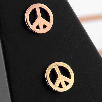 PRE-ORDER 14k Gold Peace Sign End