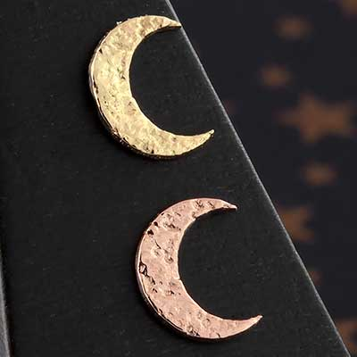 14k Gold Hammer Moon Threadless End