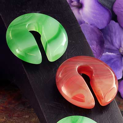 Round Agate Keyhole Weights