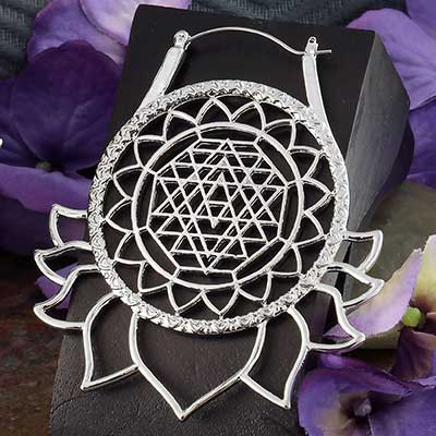 Mandala Lotus Earrings
