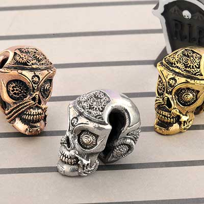 Steampunk Skull Weights
