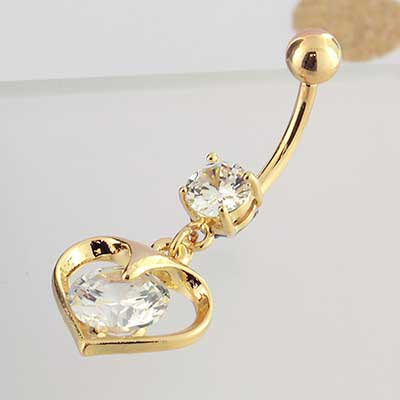 Heart of Gold Dangle Navel