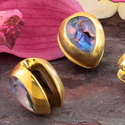 Brass and Synthetic Abalone Teardrop Weights