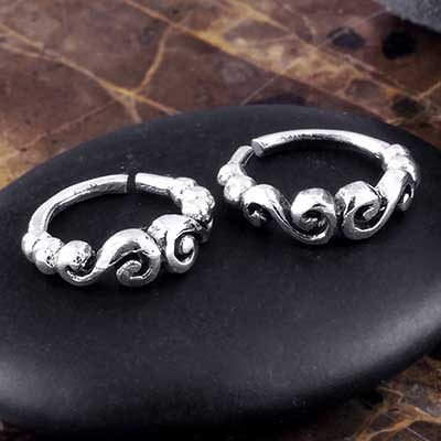 Silver Duet Swirl Seamless Ring