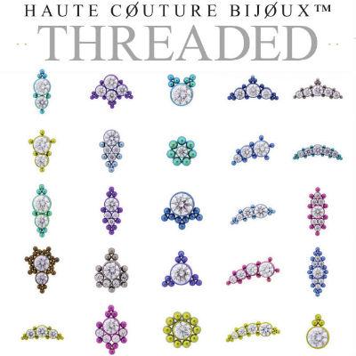 PRE-ORDER Titanium Haute Couture Bijoux Threaded Ends