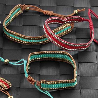 Striped Bead Bracelet
