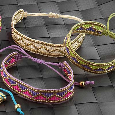 Zig Zag Bead Bracelet