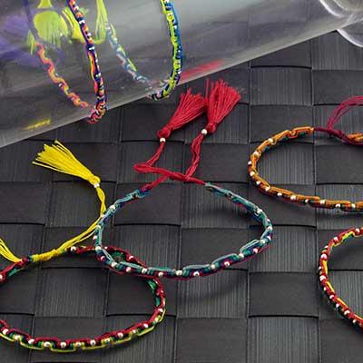 Neon Petite Rope Tassel Bracelet