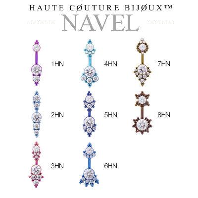 PRE-ORDER Titanium Haute Couture Bijoux Navels