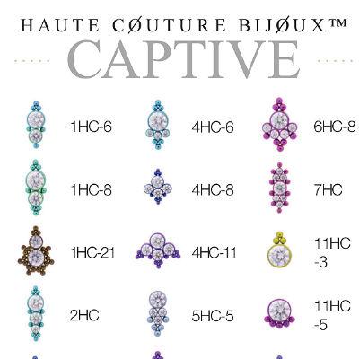 PRE-ORDER Titanium Haute Couture Bijoux Captive Bead