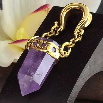 Solid Brass and Amethyst Bit Weights