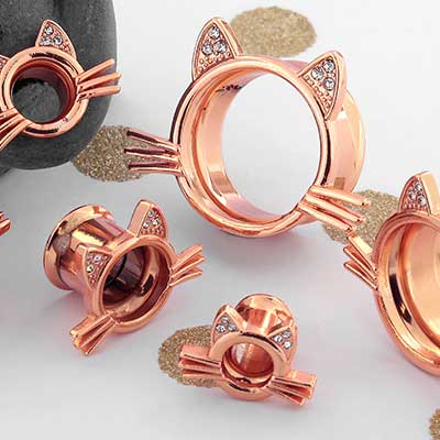 Rose Gold Colored Kitty Eyelets