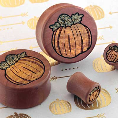 Swiss Pear Wood Pumpkin Plugs