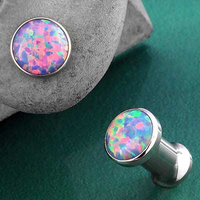Steel Light Purple Opal Eyelets