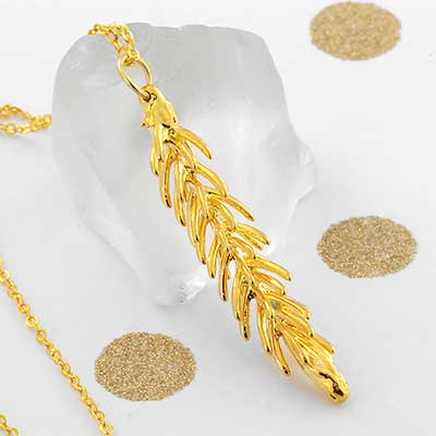 Electroplated Pine Tip Necklace