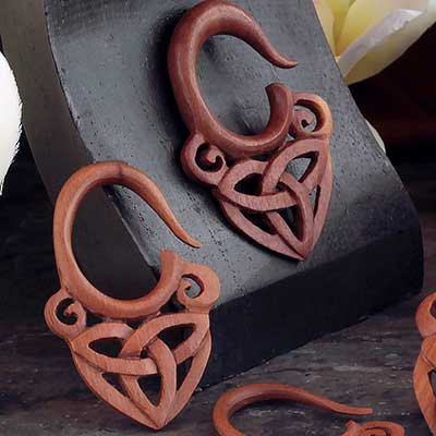 Saba Wood Celtic Triquetra Hanging Design
