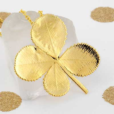Electroplated Four Leaf Clover Necklace