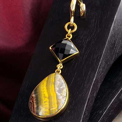 Solid Brass and Bumble Bee Jasper Weights