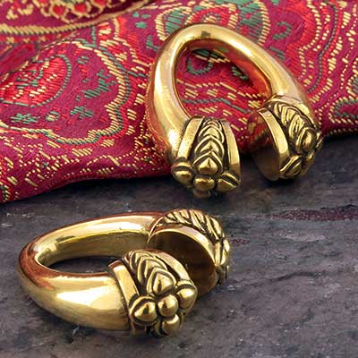 Brass Teardrop Blossom Weights